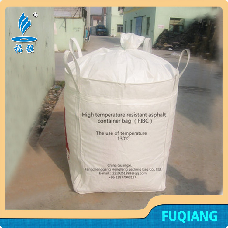 High Temperature Resistance big poly woven bag bitumen jumbo bags manufacturers