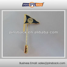 1inch Logo - wholesale stick lapel pin for Flag - Hard Enamel Process - Gold Plated
