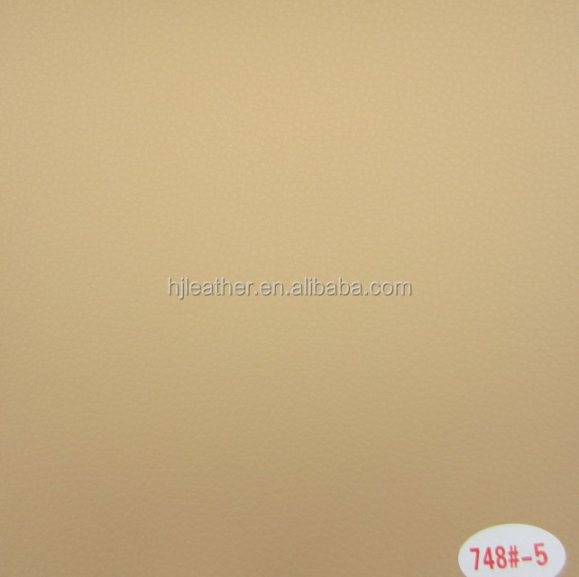 Beige pvc synthetic leather for sofa, furniture,upholstery, etc