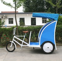 top grade CE Proved Adult Pedal Tricycle Pedicab Rickshaw