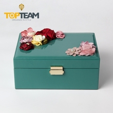 Custom ring necklace PU leather jewelry box for girls