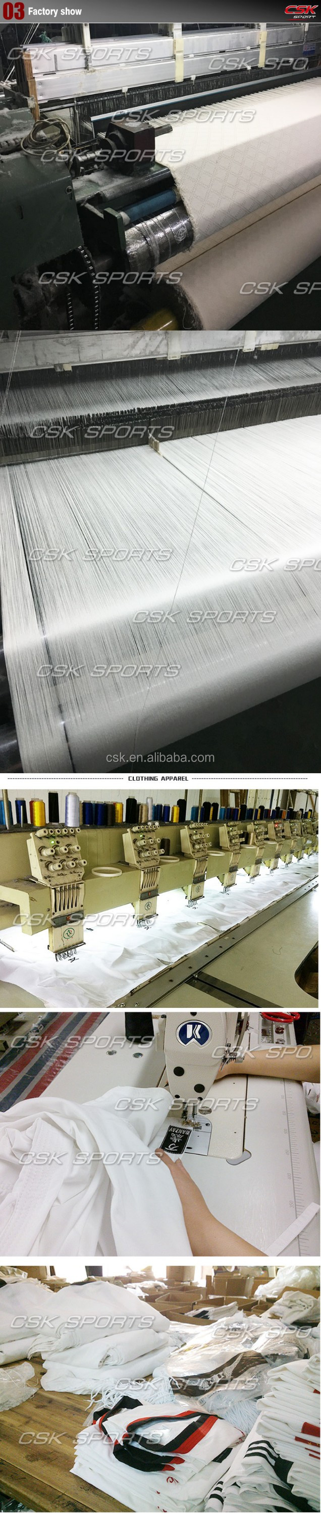 High Quality GX9638 Professional Embroided Logo White Strip TKD Uniform