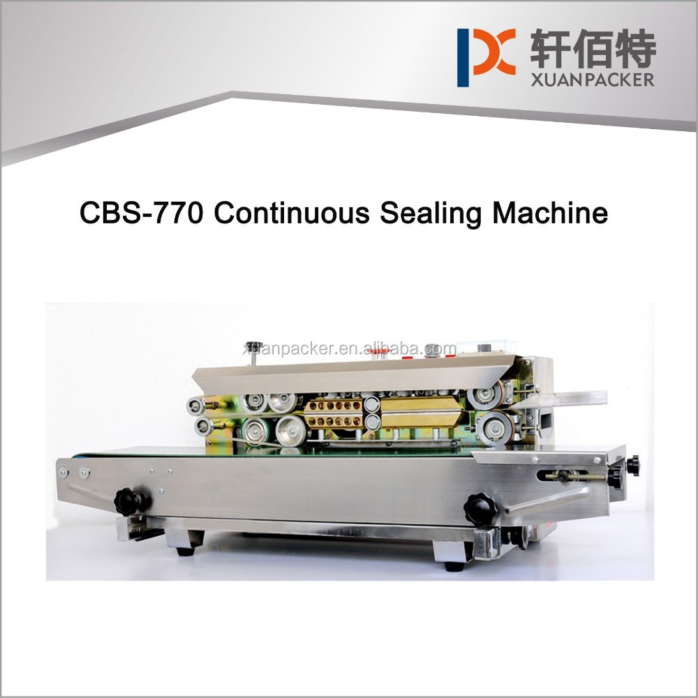 Model CBS-770 Continuous Band Sealer with Printing