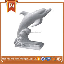 Marble carving dolphin