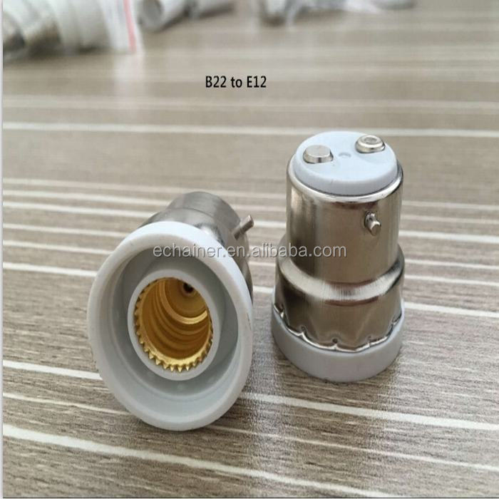 B22 to E22 Light Bulb Lamp Socket Base Adapter Holder CE ROHS approved
