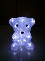 cheap decor christmas light /3D acrylic bear motif LED christmas light
