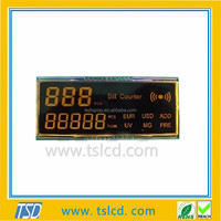 Factory price 7 segment size LCD display module with 4 digits
