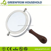 Fancy round double sides cosmetic hair salon hand mirror