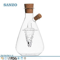Sanzo Customized Manufacturers Wholesale Clear Borosilicate Oil Glass Jar