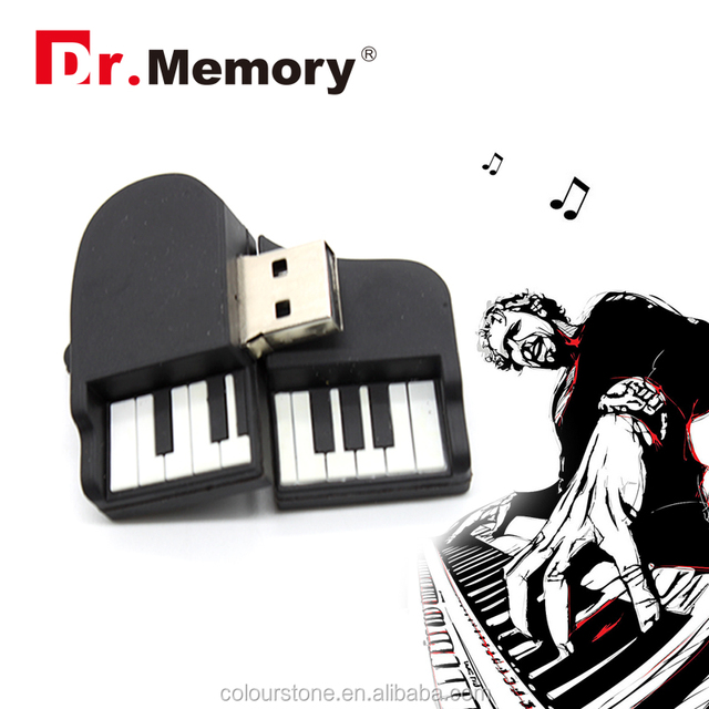 Big discount!! Dr.memory Most popular factory price custom silicone piano shaped usb key with CE/FCC/RoHS