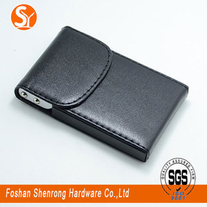 Hinged leather business name credit card holder from Foshan Manufacture