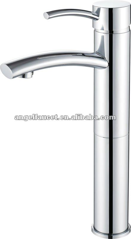 Straight Style Single Lever Brushed Nickel Bath Bathroom Sink Basin Tap Faucet