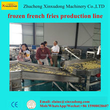 Industrial Fried Frozen French Fries Deoiling Making Machine Potato Chips Production Line Price