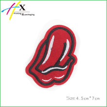 High-End Quality Sexy Big Red Mouth Sew On Embroidery Patch