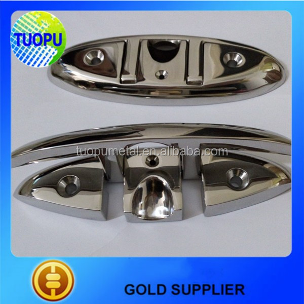 Chinese manufacturer stainless steel boat cleats folding flush yacht cleat