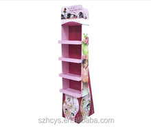Cardboard 4 tier display for make up or cosmetics