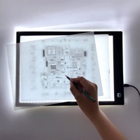 Rectangle Shape and Acrylic Material A4 LED Art Craft Tracing Light Pad