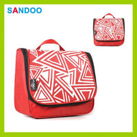 China alibaba product polyester red custom fashion pretty makeup case for 2016