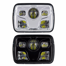 "Super bright 80w led front headlight kit square 5x7inch 5x7"" led hi/lo beam for truck headlight"