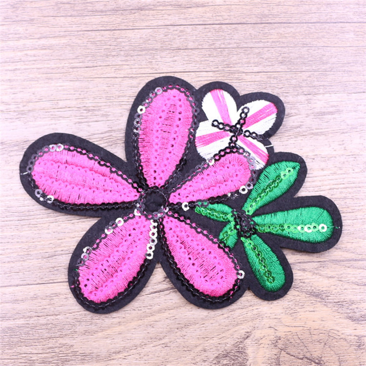 Fashion design flower sequin applique trims