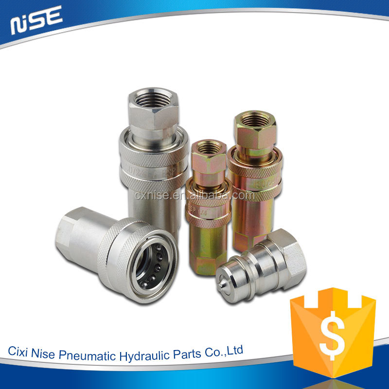 Cixi nise ISO7241-A Close Type Hydraulic quick connect coupling