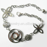 Alibaba Wholesale Stainless Steel Link Chain metal bracelet power balance