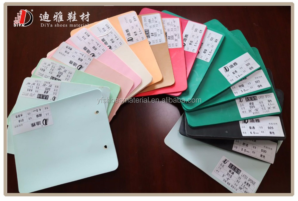 Healthy Latex sponge foam shoe insole raw material for shoe making