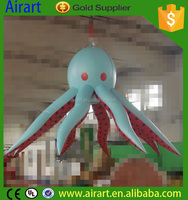 Cartoon jellyfish inflatable hanging with lighting for halloween food ideas for kids