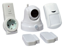DZX Smart Home Kit with IP camera+door sensor+intelligent EU socket+Motion Detector, IoT