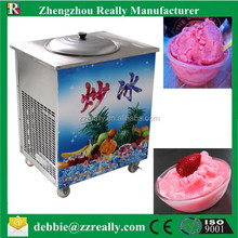 Commercial flat pan fried ice cream machine for sale