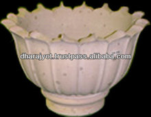 Pink Sandstone Big Lotus Flower Shaped Flower Pot