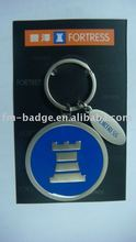 high quality 2015 hot selling custom design nickel coin holder keychain with gift box, promotional gift custom logo OEM key ring