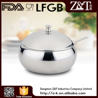 Stainless steel mirror polish sugar pot for sale