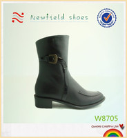 Black leather women's dress shoes factory price cheap fashion ladies shoes
