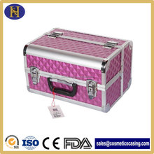 Aluminium Cosmetic Box for Travel with Makeup Mirror