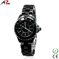 luxury sapphire crystal ceramic watch women