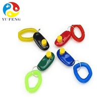 NEW Design Dog Training Clicker with Wrist Bands Press Button For Sound Sensitive Animals