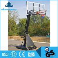 Heavy Duty Official Height Portable Basketball Stand With Breakaway Rim
