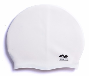High quality silicone flat swimming cap