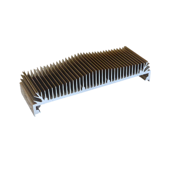 China aluminium alloy extrusion customized rectangle aluminium heat sinks