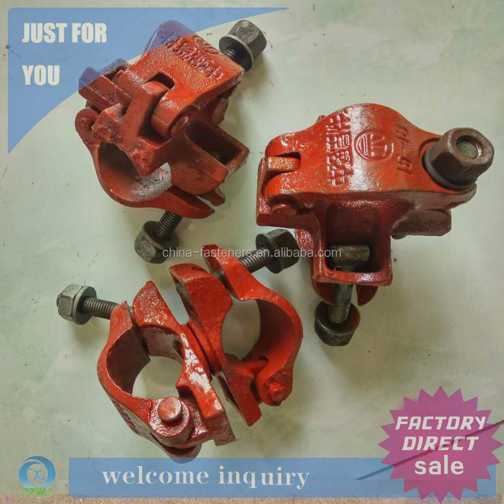 Scaffold joint clamp drop forged double coupler