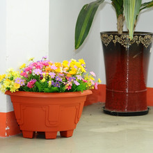 Wall garden plastic pot planter angled wall flower pots