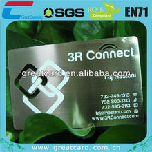 Silver Stainless Steel Metal Business Card with printing