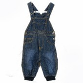 Kids denim trousers with braces fashion children overalls bib pants for baby girls