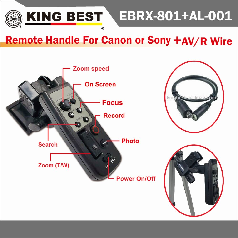 KING BEST Camcorder remote control zoom remote jimmy crane controller for SONY,CANON V/R Wire models LANC wired remote contro