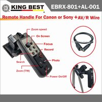 KINGBEST Remote control of tripod for camcorder(LANC) and AV/R Wire /R models LANC wired remote control