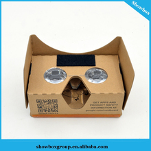 2017 Cheap VR Paper 3D Glasses Custom Google Cardboard with Head Strap Custom printing