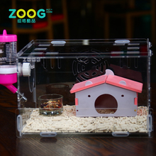 Fancy clear acrylic hamster activity cage for hamster or other small animals