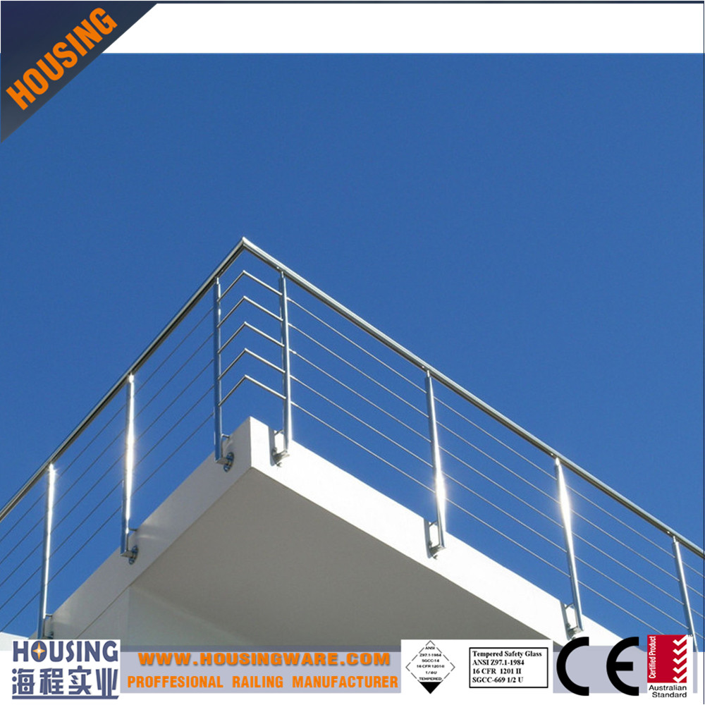 cantilevered cable railings for decks with cable fitting