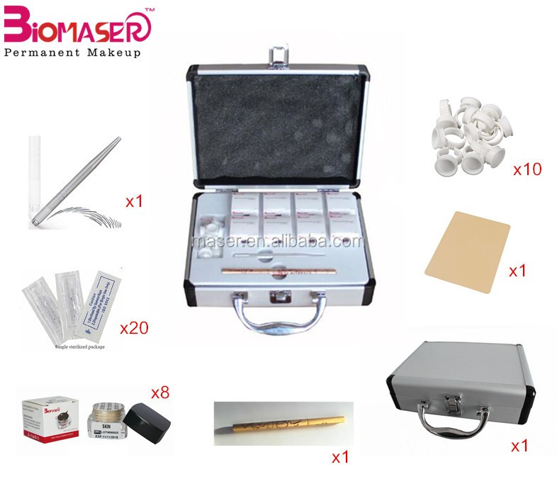 Top Sale Professional Manual Permanent Makeup Microblade Needles Pen Pigment Eyebrow Tattoo Kits